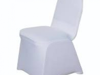 White Spandex Banquet Chair Cover